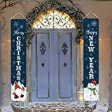 "Kmuysl Christmas Decorations Outdoor - Xmas Decoration Banner -Extra Large Size 71""x12"" Hanging Merry Christmas Happy New Yea"
