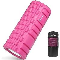 LEEPWEI 泡沫滾輪 筋膜放松 網格泡沫滾輪 瑜伽桿 訓練 運動 健身 彈力器具 收納袋