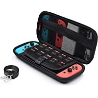 Nintendo Switch ケース ニンテンドー スイッチ ケース 3DSカードも収納 ショルダーベルト付き 保護機…