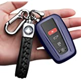 Autophone for Toyota Key Fob Cover with Keychain Compatible with Smart Key