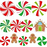 Peppermint Cutouts Gingerman Cutout 12Pcs for Candy Party Decoration Christmas Classroom Supply