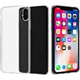 Migeec Compatible with iPhone X Case and iPhone Xs Case - Clear Soft TPU Bumper [Shock-Absorbing] Full Protection Phone Case