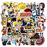 Acekar Naruto Stickers[50pcs] Anime Waterproof for Decal, Laptop Hydro Flask Water Bottle Car Cup Computer Guitar Skateboard