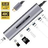 USB C ハブ USB3.0 HUB 多機能 PD充電 4K HDMI SD/TF 5Gbpsデータ転送 7in1 MacBook/MacBookPro対応