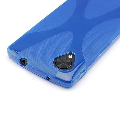 9943174b55 comGoogle Nexus 5 TPUデザインカバーケース ( ネクサス5 LG-D820 対応) 軽量ソフトモデル Design Cover  Case 【全6種類】 (Design X Blue ...