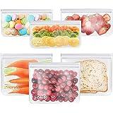 Reusable Storage Bags - Reusable Freezer Bags Reusable Sandwich Bags Reusable Snack Bags Extra Thick Ziplock Lunch Bag for Ki