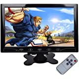 """TOGUARD 10.1"""" Inch Ultrathin Color Security CCTV Monitor 1024x600 Resolution Touch Buttons Video and Audio LED Display Screen"""