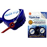 Hook-Eze New Larger Model Reef & Blue Water - Hook Tying & Safety Device + Line Cutter - Cover Hooks on 2 Rods & Travel Safel