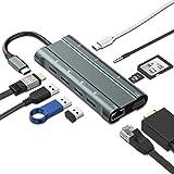 「2020最新版」USB C ハブ IVSO 10in1 MacBook Pro ハブ 4K HDMI出力 SD&Micro SDカードリーダー 高速データ伝送 60W PD 充電 3 USB3.0ポート type-c ハブ MacBook Pro/