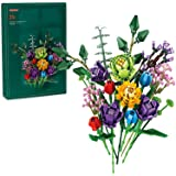 Building Kit Flowers Sets, Creative Idea Flower Bouquet Stacking Blocks Gifts for Adults, New 2021 (999 Pieces)