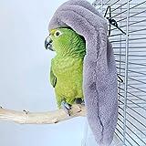 Cozy Corner Fleece Bird Blanket,Cuddle Nest Hanging Toy,Bird Cozy Corner Assorted Colors, Parrot Cage Snuggle Hut Warm Bird N