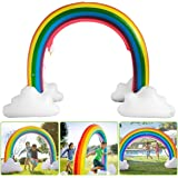 BAKAM Rainbow Sprinkler Outdoor Inflatable Pools Summer Fun for Kids