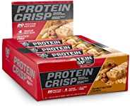 BSN Protein Crisp Bar by Syntha-6, Low Sugar Whey Protein Bar, 20g of Protein, Peanut Butter Crunch, 12 Count (Packaging may
