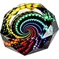 YANXUS Cigarette Ashtray Ash Holder Case-Creative Crystal Colorful Beads Cigarette Ashtray for Indoor or Outdoor Use Ash Hold