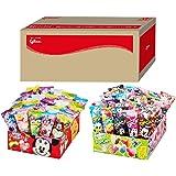 グリコ ポップキャン 12種類 60個 ディズニー ミッキー型 スティックキャンディー(棒付き 飴) グリコボックス入り
