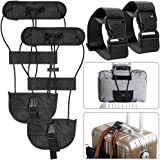 4 Pcs Add A Luggage Belt and Straps, AFUNTA Adjustable Travel Suitcase Belt Attachment Accessories for Connect Bags Together