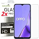 [2 Pack] MEZON Crystal Clear Premium 9H HD Tempered Glass Screen Protector for Oppo A9 2020 / A5 2020 – Case Friendly, Shock