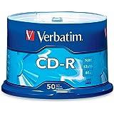 Verbatim CD-R 700MB 80 Minute 52x Recordable Disc - 50 Pack Spindle