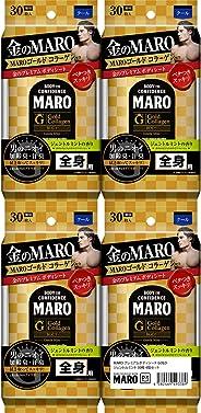 [Amazon限定ブランド] MARO DX デオドラント ボディシート GOLD ジェントルミントの香り 30枚×4