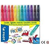 Pilot 220301200 Frixion 0.63mm Erasable Markers, Assorted Colours, (SW-FC-S12) - 12 piece set