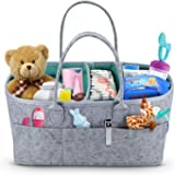 Baby Diaper Caddy Organizer - Portable Storage Basket - Essential Bag for Nursery, Changing Table and Car - Great for Storing