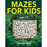 Mazes For Kids Ages 4-8: Maze Activity Book | 4-6, 6-8 | Workbook for Games, Puzzles, and Problem-Solving: Maze Activity Book