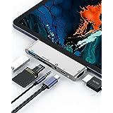 令和 iPad Pro ハブ6in1 USB Type C ハブ USB C ハブ iPad Pro対応 PD充電 4K HDMI 変換 アダプタ SD/microSD カードリーダー 3.5mm ヘッドホンジャック Macbook/Macbook