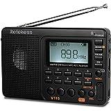 Retekess V115 Radio, Portable AM FM Radio Digital Tuner, Rechargeable Radio Support Recording, Portable MP3 Radio with Bass a