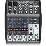 Behringer 802 XENYX 802 Mixer Premium 8-Input 2-Bus Mixer, Black