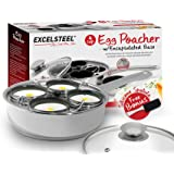 Excelsteel 18/10 Stainless 4 Non Stick Egg Poacher
