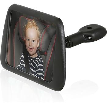 Wicked Chili(ウィケッド・チリ) 後ろ向きチャイルドシート用 後部座席 安全対策構造 赤ちゃんミラー(ミラーサイズ:140 × 88 mm)、角度・方向調節可能、振動防止・ガラス飛散防止構造)