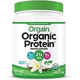 Orgain Organic Plant Protein Powder Vanilla 1.02lbs, Packaging may vary