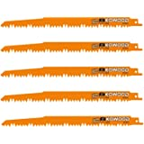 9-Inch Wood Pruning Saw Blades for Reciprocating/Sawzall Saws/Sabre Saws by KOWOOD - 5 Pcs Pack Wood Cutting Set
