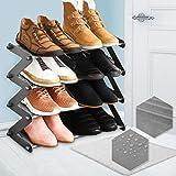 NBEST Simplicity Z-Shaped 4/5Tier Shoe Rack- Shoe Storage organiser(Blue)