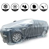 AutoRocking PE Full Car Cover Waterproof Dustproof Scratch-Proof Windproof Disposable Car Covers Garage Cover Universal Fit f