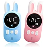 Bright Platinum Walkie Talkies for Kids, Small Portable Two-Way Radio for Family to Camping, LCD Flashlight, Gifts Toys for B