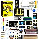 KEYESTUDIO Raspberry Pi 4 Ultimate Starter Kit with Stepper Motor, Ultrasonic Sensor, Learn Electronics and Programming, Sold