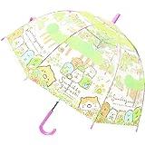 すみっコぐらし 長傘 子供用 ジャンプ キャラクター ビニール傘 すみっコぐらし フラワー 55cm 32426