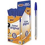 BIC 8127961 Cristal Original Ball Point Pen- Pack of 50 - Medium Point (1.0 mm)- Blue Ink
