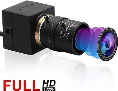 ELP ウェブカメラ広角調節可能な2.8-12 mm可変焦点レンズミニカメラ (1080P)