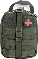 医疗包 MOLLE 可拆卸 户外第一个套装 化妆包 医疗 EMT 医疗包 附带急救箱 学校 车 旅行 办公室 登山 防灾 急用