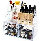 BESONT メイクボックス 化粧品ボックス 大容量 高透明度 引き出し アクセサリー/化粧品入れ 耐久