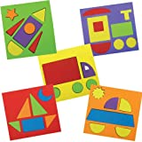 Imagimake Make with Shapes Activity Kit and Puzzle (2 Years +) to Learn Shapes, Sizes and Fine Motor Skills, Vehicle Theme, 8