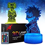 My Hero Academia 3D Illusion Anime Lamp - My Hero Academia Dabi Night Lights Toys LED Night Light for Kids Room Decor, 2 Patt