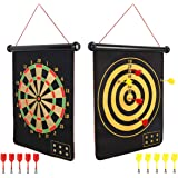 Mixi Magnetic Dart Board for Kids, Outdoor Toys Kids Games Double Sided Dart Board Games Set for Boys with 10 Darts, Best Toy