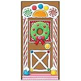 """Beistle 20017 Gingerbread House Door Cover, 30"""" x 5'"""