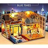 (ユンコ)Yunko Blue Times ドールハウス ミニチュア LEDとオルゴール付属 防塵ケース付属 手作りキッ…