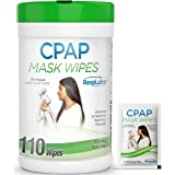 RespLabs CPAP Mask Wipes, 110 Pack Bottle - Unscented and Lint-free