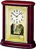 セイコー クロック 置き時計 電波 アナログ 回転飾り 木枠 茶 木地 BY227B SEIKO