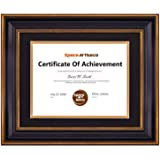 Space Art Deco, Ornate Gold Certificate Frame, Black, 11x14